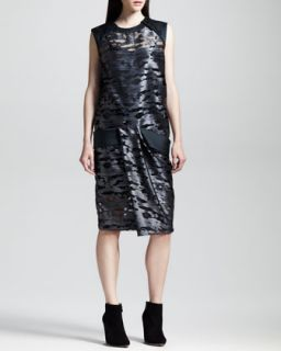 Womens Cocoon Back Metallic Muscle Dress, Geyser   Alexander Wang   Geyser (6)