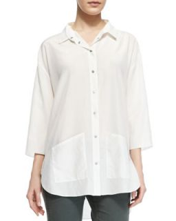 Womens Freyza Blaire Button Up Hip Pocket Shirt   Theory   White (MEDIUM)