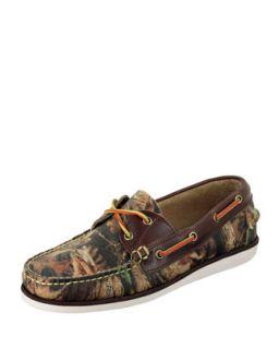 Mens Freeport Realtree Camo Boat Shoe   Eastland   Camouflage (10 1/2)