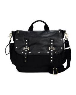 Logan Leather & Nylon Diaper Bag, Black   Rebecca Minkoff   Black