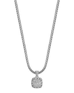 Batu Chain Diamond Pendant Necklace   John Hardy   Silver