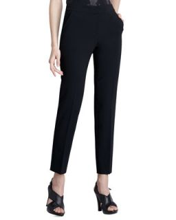 Womens Emma Crepe Marocain Pants   St. John Collection   Caviar (6)