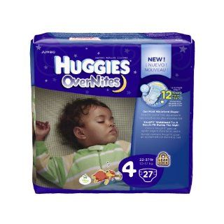 Huggies Overnites Diapers, Jumbo Pack, Size 4, 22 37 lbs, 27 ea, 1 pack Health & Personal Care