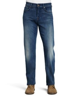 Mens Luxe Performance: Standard Pale Ale Jeans   7 For All Mankind   Pale ale