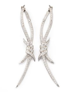 Diamond Barbed Wire Earrings   Stephen Webster   White gold