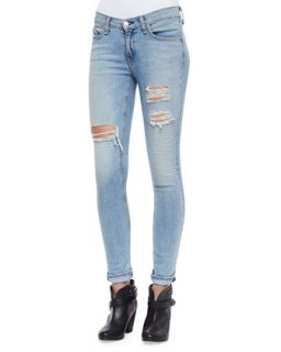 Womens The Skinny Ripped Jeans, Convoy   rag & bone/JEAN   Convoy (28)
