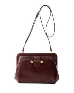 Daphne Leather Crossbody Bag, Bordeaux/Burgundy   Jason Wu