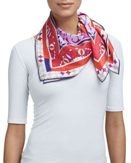 Pavimento Silk Square Scarf, Red   Emilio Pucci   Red (NO SZE)