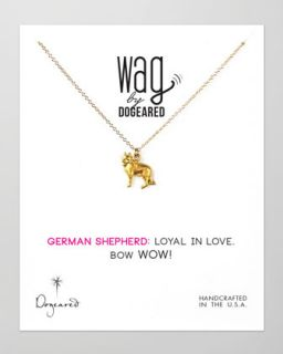 14k Vermeil German Shepherd Dog Necklace   Dogeared   Gold (14k )