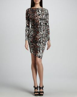 Wild Cat Printed Jersey Dress, Womens   Rachel Pally   Wildcat print (3X