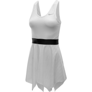 NIKE Womens Novelty Knit Tennis Dress   Size: Medium, White/black/silver
