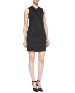 Womens Lateral Twist Top Jersey Dress   Helmut Lang   Black (SMALL)