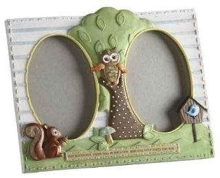 Learning To Fly Owl Frame 3.5 x 5 Two Pane * Catholic Baptism Child : Nursery Picture Frames : Baby