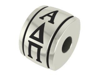 Alpha Delta Pi Barrel Sorority Bead Fits Most Pandora Style Bracelets Including Pandora, Chamilia, Biagi, Zable, Troll and More. Officially Licensed, High Quality Exclusive Bead in Stock for Immediate Shipping: Jewelry
