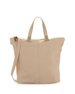 Corner Weathered Faux Leather Tote Bag, Nude   Violet Ray