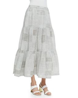 Womens Petticoat Skirt, Gray   eskandar   Gray (3)