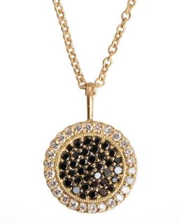 Two Tone Diamond Pendant 18k Gold Necklace   Jamie Wolf   Gold (18k )