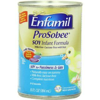 Enfamil Prosobee Soy Infant Formula Powder with Iron CONCENTRATE, 13 Ounce (Pack of 12) (Packaging May Vary): Health & Personal Care