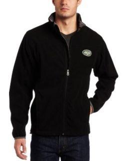 NFL Men's New York Jets Safety Blitz III Long Sleeve Full Zip Performance Bonded Jacket (Black/Storm Gray, Medium)  Sports Fan Outerwear Jackets  Clothing
