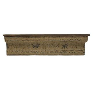 "50"" Roman Inspired Weathered Dense Wooden Wall Shelf   Floating Shelves"