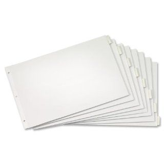 "Wholesale CASE of 25   Cardinal Insertable Index Dividers Paper Insertable Tab Dividers, 8 Tab, 11""x17"", Clear : Binder Index Dividers : Office Products"