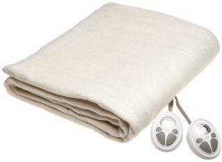 Sunbeam Imperial Nights ComfortSet Digital Controller Heated Electric Queen Blanket, Seashell