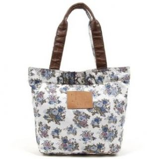 Nicole Lee Purses Nikki Mariam Handbags Flower Rose Print   Blue: Clothing