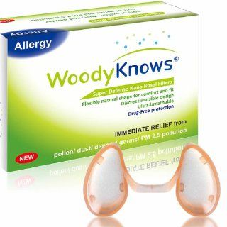 WoodyKnows Super Defense Nano Nose / Nasal Filters Block Pollen, Dust, Dander, Mold, Germs, Allergens, Airborne Particles, Pollution, Allergy Allergic Asthma Sinusitis Rhinitis Hay Fever Allergies Relief Reliever, Portable Air Purifier Cleaner Mask Hepa Sc