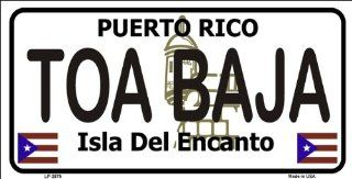 Toa Baja Puerto Rico Novelty State Background Metal Novelty License Plate Tag Sign Automotive