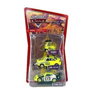 Disney / Pixar CARS 1:55 Die Cast Figure 3 Pack Team Leak Less (Stacy, Earl Filter and Leak Less): Toys & Games