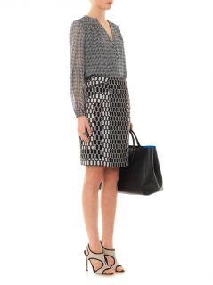 Chloe silk chiffon blouse  Diane Von Furstenberg  MATCHESFAS