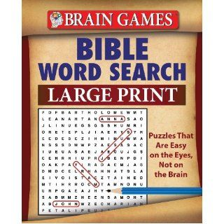 Brain Games: Bible Word Search (Large Print): Editors of Publications International LTD, Editors of Publications International Ltd.: 9781450827157: Books