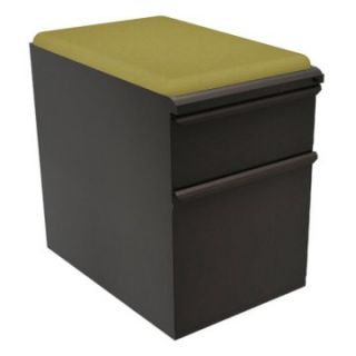 Mobile Pedestal with Fennel Fabric Seat and File Drawer / Storage Drawer   23 in.   File Cabinets