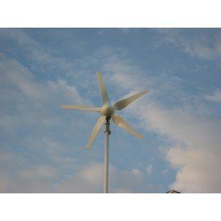 Windmax HY400 500 Watt Max 12 Volt 5 Blade Residential Wind Generator Kit  Renewable Energy Charge Controllers  Patio, Lawn & Garden