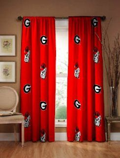 "Georgia Bulldogs Curtain Panel 84""   Window Treatment Curtains"