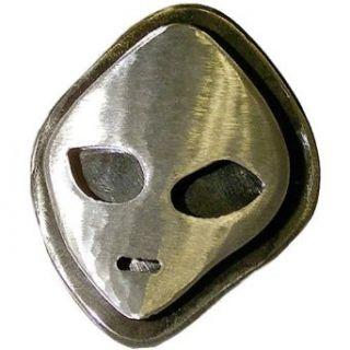 Hand Made Distressed Steel UFO Alien Belt Buckle Clothing