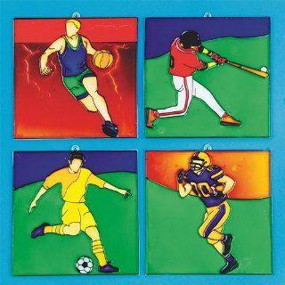 Sports Sun Catchers Craft Kit (Makes 12): Toys & Games