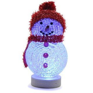 USB Powered Mini Glowing Snowman w/Multi LED Lights   Makes a Great Desktop Ornament or Stocking Stuffer!: Computers & Accessories