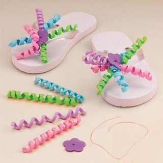Flip Flop Decorating Craft Kit (Makes 12): Toys & Games