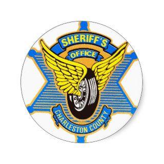 Charleston County Sheriff's Office Round Stickers