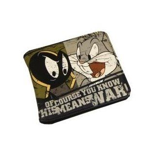 Retro Genuine Looney Tunes 'Marvin The Martian and Bugs Bunny' This Means War Bi Fold Wallet: Jewelry