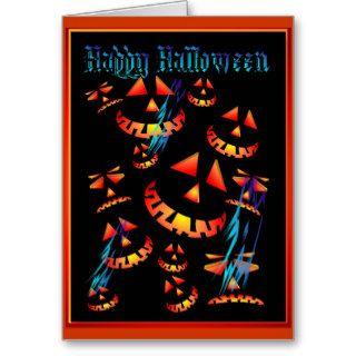 Happy Halloween Grinning PumpkinsCard