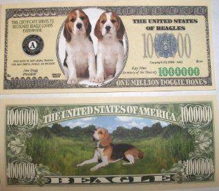 Set of 10 Bills Beagle Million Dollar Bill Toys & Games