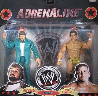 WWE Wrestling Adrenaline Series 37 Action Figure 2 Pack Million Dollar Man and Ted Dibiase Jr.: Toys & Games
