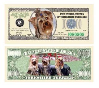 YORKSHIRE TERRIER DOG MILLION DOLLAR BILL (w/Protector)