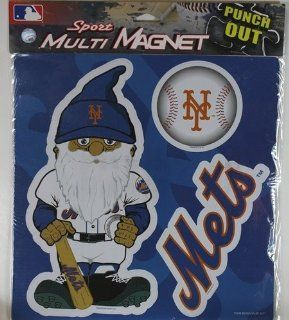 MLB New York Mets 12 Thematic Gnome Magnet Sheet, Blue  Sports Fan Automotive Magnets  Sports & Outdoors