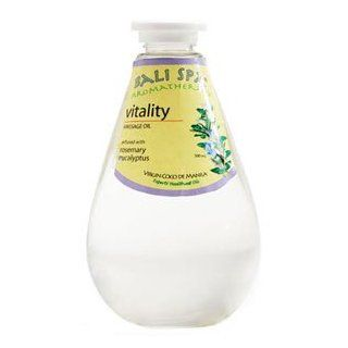Virgin Coconut Oil Bali Spa Aromatherapy Massage Oil   Infused with Natural Rosemary, Eucalyptus for Vitality   17 oz (500 ml) Direct from Manila Coco Factory : Beauty