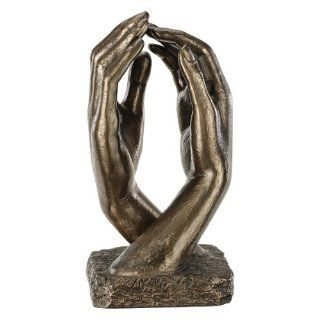 Auguste Rodin Cathedral Hands Table Statue Sculpture Figurine