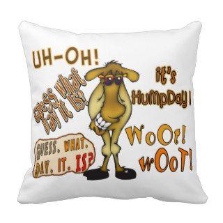 Hump Day Camel Pillow