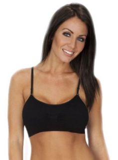 The Softest Most Comfortable Plus Size Bra Ever   Removable Straps and Pads, Black   One Size Bras Clothing